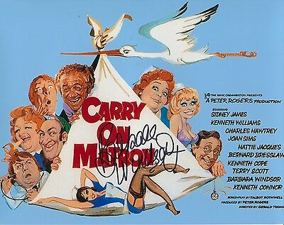 Barbara Windsor autographed Carry on Matron photo! Signed at Private signing!