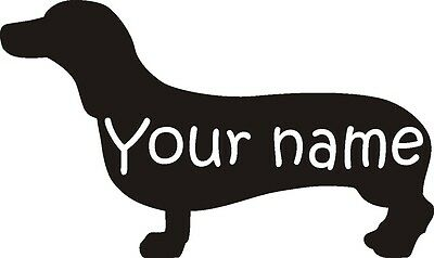 Wall Art Personalised Name on Dog Sticker 8 Breeds vinyl self stick pets home
