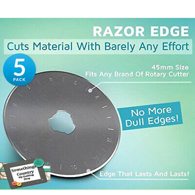 Set of 5 Rotary Cutting Blades 45mm Fits All Brands, Olpha, Clover, Truecut, ...