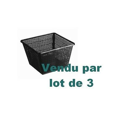 lot de 3 paniers 23 x 23 cm x Prof. 13 cm Superfish