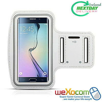 Sports Armband Gym Jogging Sports Running Case,Galaxy S5,S6/S6Edge S7,(WHITE)