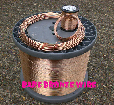 BRONZE Wire SOLID UNCOATED UNPLATED RANGE OF SIZES Jewellry Making / Wire Craft