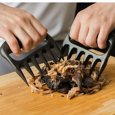 2PC Pulled Pork Shredder Meat Bear Claws Handler Shredding Forks Smoked