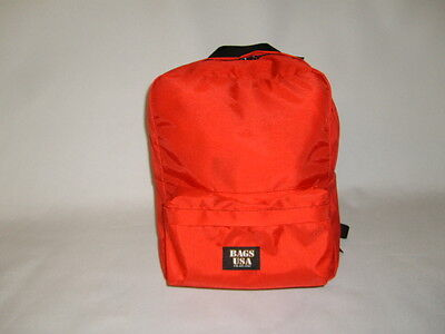 First aid backpack,emergency backpack,search and rescue bag Red Made in U.S.A.