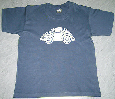Boys Girls Kids Baby VW Beetle Bugrod (2) T Shirt SG Cotton Personalised