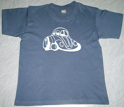 Boys Girls Kids Baby VW Beetle (2) T Shirt SG Short Sleeve Cotton Personalised