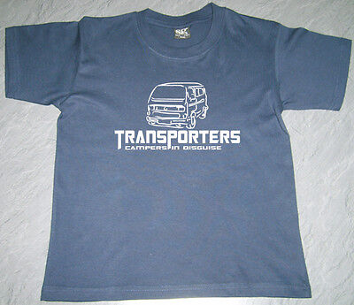 Boys Girls Kids VW T25 Transporters Campers in Disguise (2) T Shirt Personalised