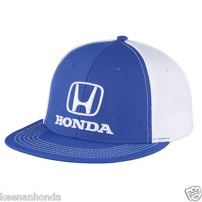 Genuine Honda Lifestyle Collection Royal Blue Fitted Flat Brim Hat Bill Cap