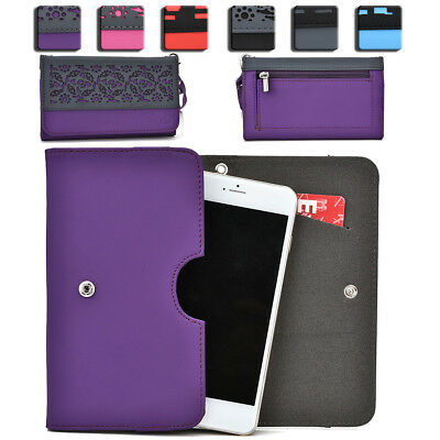 Womens Protective Wallet Case Cover for Smart Cell Phones by KroO ESDC-1 MD