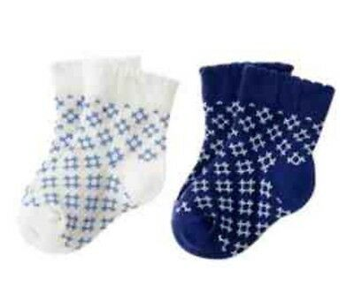 Gymboree Coastal Breeze Socks Nwt Blue Nautical 2 Pack 0-3 M