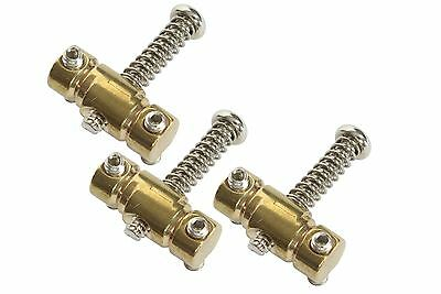 "Compensated Telecaster Saddle - Brass - 5/16"" Offset Barrel - Set of 3"