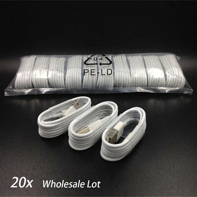20x 8Pin USB Data Sync Cable Cord for iPhone 6s Plus 6 5s High Quality Wholesale