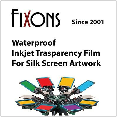 "Waterproof Inkjet Transparency Film 8.5"" x 14"" - 100 Sheets"
