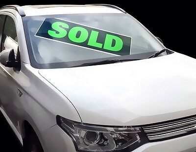 10 x Car/Vehicle SOLD Signs/Correx Boards for sale, Reusable, Professional