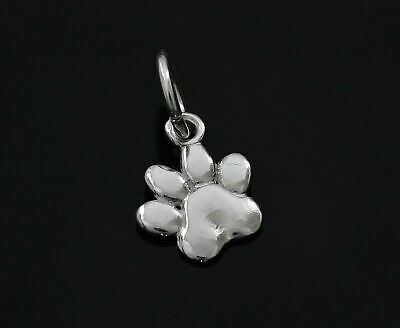 Genuine 925 Sterling Silver Dog Paw Charm Pendant For Charms Bracelet A18P
