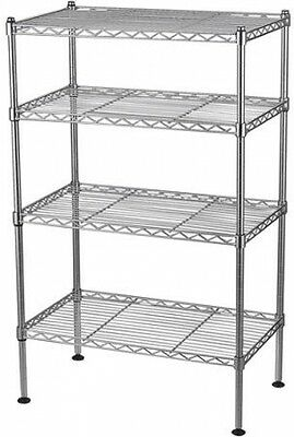 4-Shelf Heavy Duty Wire Metal Adjustable Shelving Storage Rack 20W X 12D X 32H