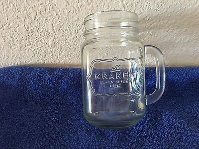 Kraken Black Spiced Rum Mason Jar 16oz Brand New and Rare