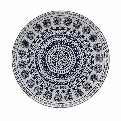 NEW Maxwell & Williams Blue Antico Round Platter 36.5cm (RRP $50)