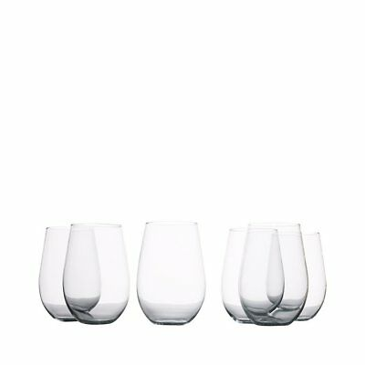 NEW Maxwell & Williams Mansion Stemless Red Wine Glass 580ml Set of 6 (RRP $40)