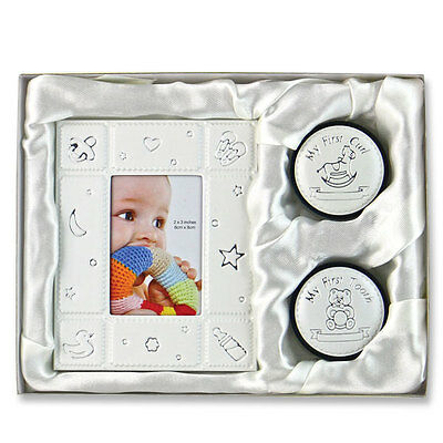 Unisex Baby First Frame, Curl and Tooth Keepsake Gift Set BRAND NEW