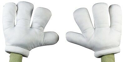 Giant Hands Gloves Cartoon White Big Oversized Funny Over Sized Mouse Costume