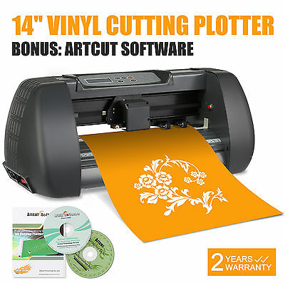 "New 14"" Vinyl Cutting Plotter Printer Desktop Cutter Artcut Machine Software"