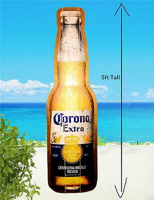 Corona Extra Beer Huge 5 Foot Distressed Wood Bottle Hanging Wall Beach Bar Sign