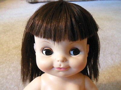 "Vintage 1966 Effanbee - HALF PINT 11"" DOLL - Brunette Hair - Nice and Clean"