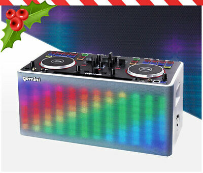 Gemini Mix 2 GO Portable DJ Sound Station with LED Lightshow and Bluetooth