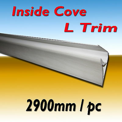 "1 PIECE PVC WALL CLADDING PANEL ACCESSORIES ""INSIDE COVE"" - L TRIM 2900mm"