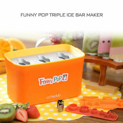 Funny Pop Triple Ice Bar Maker Made In Korea / Happy Kids