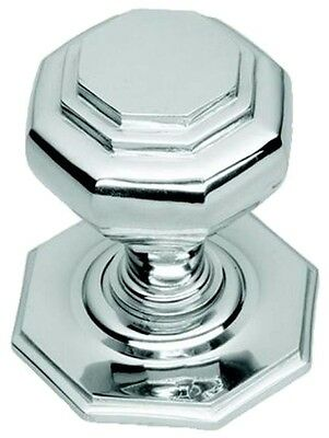 Polished Chrome Octagonal Centre Pull Door Knob / Handle (BC15A)