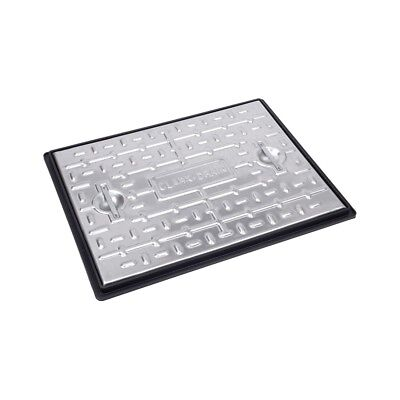 CLARKE DRAIN PC6BG 5T GALVANISED STEEL MANHOLE COVER AND FRAME 600MM x 450MM