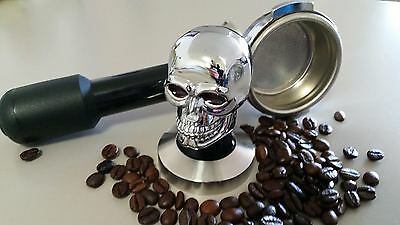 "COFFEE TAMPER""SKULL"" 58mm FLAT..VERY RARE..VERY HEAVY..COFFEE MACHINES..RRP $129"