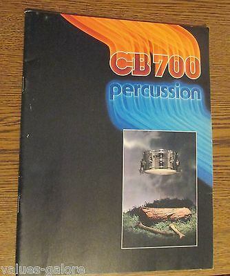 CB700 Percussion  1982 Catalog With 63 Pages
