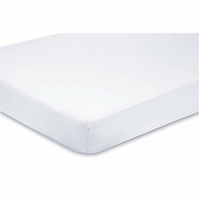 Alexander Anderson 2x Cot Bed 100% Cotton Jersey Fitted Sheet 140 x 70 cm White