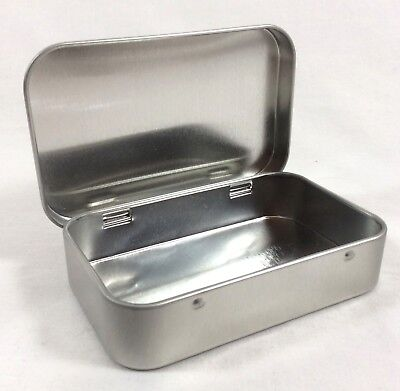 Lot of 4 Tin Containers Altoid Size - Great for First Aid Kit, Survival Kit