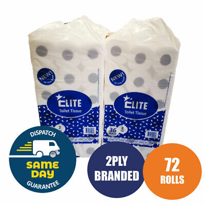 ✯72 Toilet Rolls 2 Ply 200 Sheet 2Ply Tissue Luxury Quilted Paper 2 Cases Jumbo✯