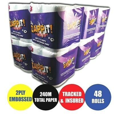 48 Rolls x 10m Rolls Zappit Kitchen Roll ( Micro Absorbent Technology)