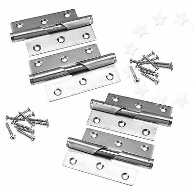 """Pair of 3"""" Stainless Steel Rising Butt Left/Right Handed Lift Off Door Hinge"""