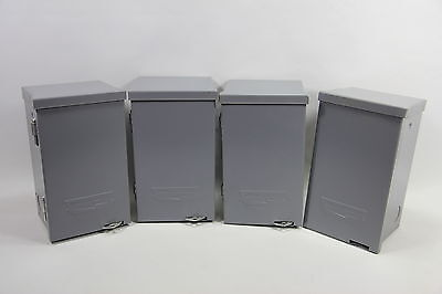 LOT OF 4 Connecticut Electric 06000NF Disconnect Switch Enclosure 60A 240VAC