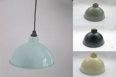 "8"" Dome industrial factory Vintage Retro Old Style pendant light lamp shade OR F"