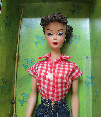 NEW 2005 BARBIE DOLL+FASHION REPRODUCTION of 1959 *PICNIC SET*~ #967~GOLD LABEL!