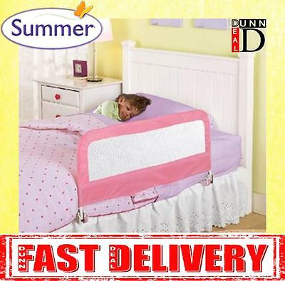 Summer Infant Travel Single Childs Toddler Baby Bed Guard Rail Bedrail Pink