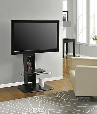 Tv Stand With Mount Up To 50 Inch Screen Monitor Glass Self Dvd Blue