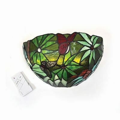 Stained Glass Half Moon Rain Forest Sconce - indoor only