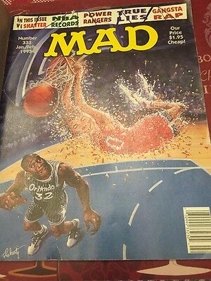 Mad Magazine #333 January / February 1995 Power Rangers, NBA Free Shipping