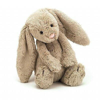 NEW GENUINE Jellycat Bashful Beige Bunny Medium 31cm Plush Super Soft Teddy