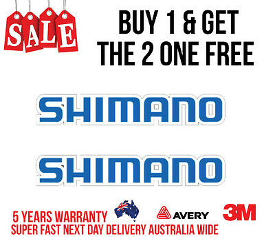 2 X Shimano Decal Sticker For Boats /fishing 205Mm X 50Mm
