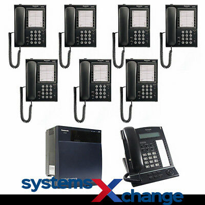 Panasonic Office Phone System with 8 KX-T Telephones